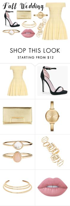 """""""72"""" by cprasumi on Polyvore featuring Alexander McQueen, Boohoo, Michael Kors, Accessorize, BP., Kenneth Jay Lane, Lime Crime and fallwedding"""