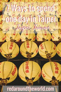If you only have one day in Taipei, there are plenty of fun ways to fill your day. Here are seven perfect one day itineraries for one day in Taipei. South Korea Travel, Taiwan Travel, China Travel, Taiwan Night Market, Asian Continent, Taipei Taiwan, Amazing Destinations, Travel Destinations, Zion National Park