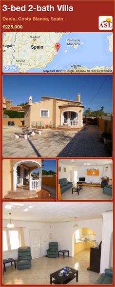 3-bed 2-bath Villa in Denia, Costa Blanca, Spain ►€225,000 #PropertyForSaleInSpain