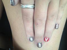 Arkansas razorback football nails