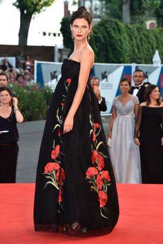Bianca Balti in Dolce and Gabbana at the Venice Film Festival.