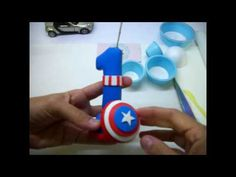 Vela Capitão America em Biscuit - Rejane Kesia - YouTube