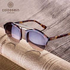 94b2898af952 COLOSSEIN Fashion Sunglasses Women Men Summer Vintage Holiday Cat Eye Style Round  Glasses 2017 New Popular
