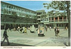 Check out the vintage fashion and the 'big stones' that were a key feature of Princes Square at East Kilbride Shopping Centre. Moving To Texas, Visit Uk, Holiday Pictures, Great Britain, Glasgow, Old Town, Good Times, Countryside, Past