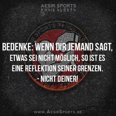 Unmöglich? Vielleicht für dich ... - www.AesirSports.de | #Möglichkeiten #Unmöglich #Gestaltungsraum #Komfortzone #Erfolg #Motivation #Inspiration