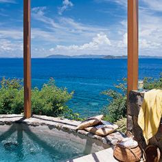 Beach house jacuzzi next to the saltwater pool for the days that the walk down to the beach is just too . . . .