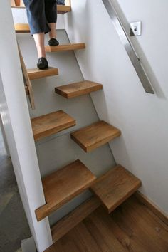 This form of climbing might take some getting used to (ask any sailor), but it's a great space saver. | 5 Creative Staircase Ideas for Tiny House RVs | Tiny Homes