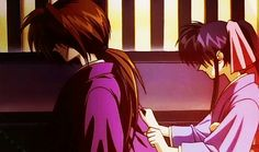"""""""Let go, Miss Kaoru."""" """"But... Kenshin..."""" """"I have to do this."""""""