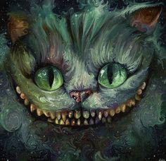 Chesire cat Alice in wonderland fan art Lapin Art, Cheshire Cat Alice In Wonderland, Alice In Wonderland Fanart, Chesire Cat, Gato Cheshire, Were All Mad Here, Adventures In Wonderland, Psychedelic Art, Disney Art