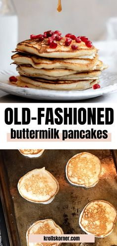 The Best Homemade Buttermilk Pancakes. They are an old-fashioned style pancake that are tender, light, soft and delicious! Best Brunch Recipes, Breakfast Recipes, Breakfast Ideas, Low Carb Breakfast, Best Breakfast, Breakfast Club, Homemade Buttermilk Pancakes, Thing 1, Pancakes And Waffles
