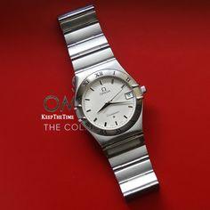 Omega Constellation Quartz Textured Dial Watch