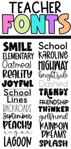 Fancy Fonts, Cool Fonts, Teacher Fonts, 6th Grade Reading, Teaching First Grade, Cricut Fonts, Painted Letters, Cricut Tutorials, Handwritten Fonts