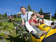 Begin your speedy descent on the longest alpine coaster in the world at an altitude of 5,000 feet above sea level. Winding down the 2 1/4-mile track at 35 mph, riders will face more than 65 different twists, bumps, drops and turns.