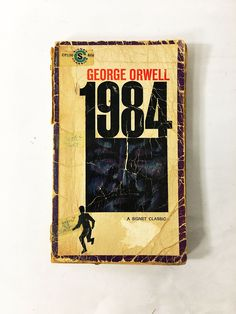 George Orwell 1984. Book circa 1964. 33rd printing. Classic literature. Paperback Fiction Book. University College. Nineteen Eighty-Four