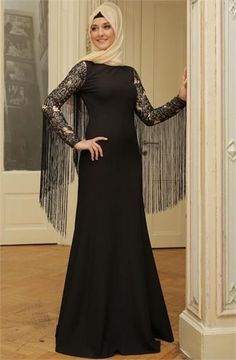 Mislinas Püsküllü Abiye Elbise 15Y3436 Siyah Farklı olmaya sevenler için Püsküllü Tesettür Abiye #tesettür #tesettürabiye #püsküllüabiye #püsküllü