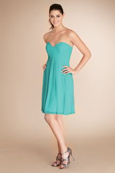 #DonnaMorgan Morgan #Bridesmaids dress in Blue Green