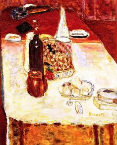 Still LIfe with a Bottle of Red Wine Pierre Bonnard - 1942