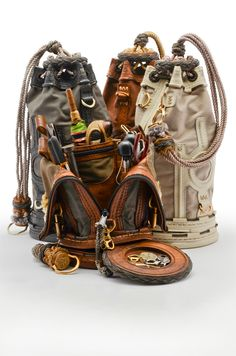 """… [for] splicing, serving, whipping, seizing and canvas work. … No better container to hold these tools has been devised than the Sailor's Ditty Bag. Leather Pouch, Leather Backpack, Bushcraft, Designer Backpacks, Leather Projects, Canvas Backpack, Canvas Leather, Leather Working, Leather Craft"