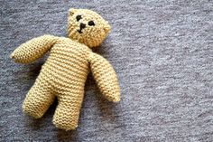 Bringing teddy into this world, one stitch at a time! Hand Knitting, Gloves, Bring It On, Teddy Bear, Smile, Stitch, Cute, Projects, Log Projects