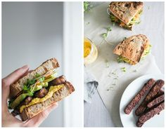 Sweet & Spicy Tempeh Sandwich + Sunflower Carrot Aioli (Vegan) by The Green Life