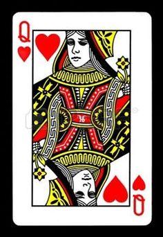 reine de coeur: Le Queen of Hearts Carte de jeu.