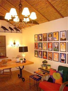 Interior - decorating using portraits