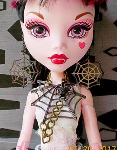 Doll Spider Web Jewelry 17 Monster Doll Goth Earrings