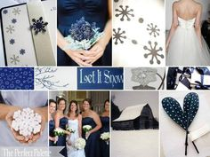 a snowflake navy blue winter wedding! Ooo I may be ok with a not-June wedding (someday) if this is the theme.