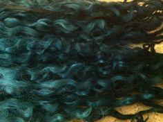Washed Dyed Teeswater locks/fiber/fleece  1 ounce by beautifulyeah, $14.00