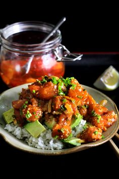 When I was in Hawaii this year I fell in love with poke! Here is a recipe for Salmon-Poke. Yum. (note to reader - forgo reading the blog and just go to the recipe) :)