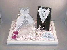 Geldgeschenke - Geldgeschenk, Hochzeit, Vermählung, Brautpaar - ein Designerstück von mafi-mak bei DaWanda