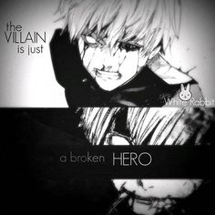 """""""Um vilão é apenas um herói quebrado"""" TG"""