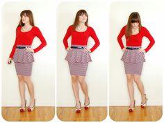 Good Gravy: I learn how to make an easy peplum skirt. sewing, diy, craft