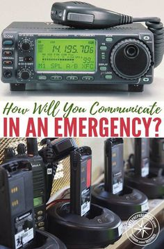 How Will You Communicate in an Emergency? Are you planning on using your cell phone to send texts? While that may be more reliable than making calls, the communication grid is not especially reliable. Survival Food, Outdoor Survival, Survival Prepping, Survival Skills, Survival Equipment, Survival Hacks, Camping Survival, Weather Radio, After Life