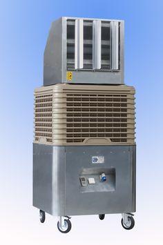 Raffrescatore d'aria ad evaporazione, ideale per grandi locali e capannoni industriali