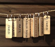 Wooden Rustic Oak Key Ring / Keychain  Garage by JollyGoodSticks, £2.50