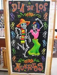 Day of the dead display idea - I will use this as inspiration for a hallway display.