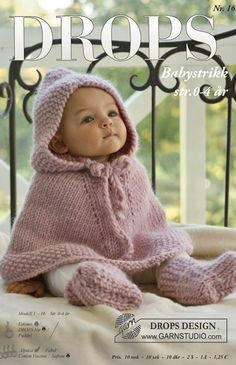 Did you know there's over 200 DROPS catalogues filled with thousands of free knitting and crochet patterns? Baby Knitting Patterns, Crochet Throw Pattern, Baby Cardigan Knitting Pattern Free, Knitted Poncho, Baby Patterns, Free Knitting, Crochet Patterns, Knitted Baby Outfits, Crochet Baby Sweaters
