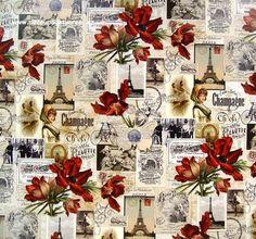 Vzpomínky na Paříž, 50x68 cm Arches, Decoupage, Shabby Chic, Arch, Bows, Kleding, Shabby Chic Decorating
