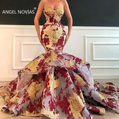 afrikanische kleider luxury evening dresses long modest sweetheart neck embroidery appliqu mermaid evening formal gown If you want custom made color and size, you can choose the c African Formal Dress, African Traditional Wedding Dress, African Prom Dresses, African Wedding Dress, Latest African Fashion Dresses, African Dress, Traditional Dresses, Floral Prom Dresses, Gala Dresses
