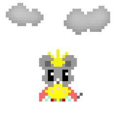 天気実況大阪曇り #pixelart #mouse #weather #osaka #thedollsfestival #ドット絵 #ネズミ #天気 #大阪 #ひなまつり