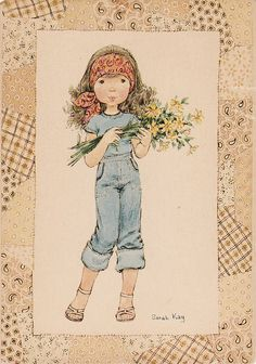 Sarah in jeans Sarah Key, Vintage Cards, Vintage Postcards, Holly Hobbie, Kids Patterns, Illustrations, Cute Images, Cute Illustration, Childhood Memories