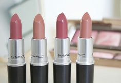 In MAC Brave, Honey Love, Twig and Velvet Teddy shades.