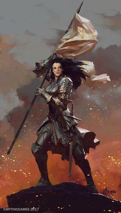Concepts for Joan of Arc, Bayard Wu on ArtStation at https://www.artstation.com/artwork/BGoy4