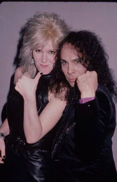 Lita Ford and Ronnie James Dio