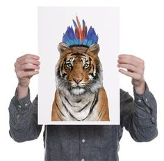 Tiger A3 print af Jamie Mitchell // Tiger A3 print by jamie Mitchell