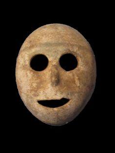 Neolithic Mask, 7000 BCE, Musee de la Bible et de laTerre Sainte