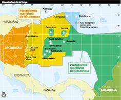 Una vez mas se puede ver las aguas territoriales de Nicaragua con pretencion de Colombia de adueñarse de  la posecion marítima de Nicaragua. El tribunal Internacional de La Haya en Holanda fallo a favor de Nicaragua en 2013.