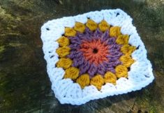 Free Crochet Pattern: Starburst Motif, at Crochet Spot