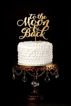 Hochzeitstorte Topper - To The Moon And Back - Gold
